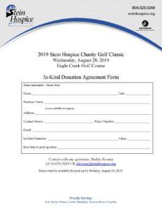 Donation Form Letterhead